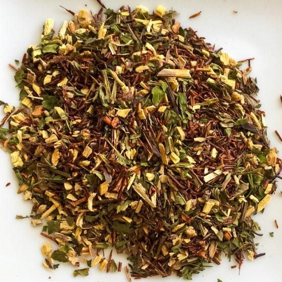 loose leaf tea on white background