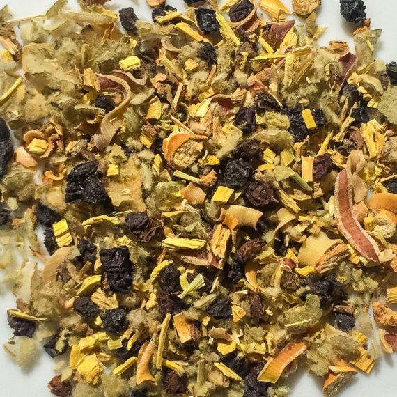 closeup of loose tea